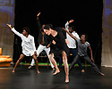 "Faso Danse Theatre/ Serge Aime Coulibaly presents ""Kalakuta Republik"", choreographed by Aerge Aime Coulibaly, at the Royal Lyceum Theatre, as part of the Edinburgh International Festival.  The dancers are: Marion Alzieu, Serge Aime Coulabily, Adonis Nebie, Sayouba Segue, Ahmend Soura, Ida Faho. Picture shows: Ida Faho, Serge Aime Coulibaly, Marion Alzieu, Sayouba Segue, Adonis Nebie."