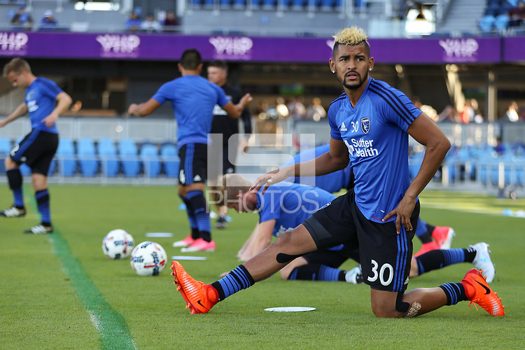 San Jose, CA - Wednesday June 28, 2017: Anibal Godoy prior to a U.S. Open Cup Round of 16 match between the San Jose Earthquakes and the Seattle Sounders FC at Avaya Stadium.