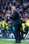 Manager Zinedine Zidane of Real Madrid reacts during the UEFA Champions League Semi-final 2nd leg match between Real Madrid and Bayern Munich at the Estadio Santiago Bernabeu on May 01 2018 in Madrid, Spain. Photo by Diego Souto / Power Sport Images