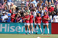 Cary, NC - Sunday October 22, 2017: Alex Morgan prior to an International friendly match between the Women's National teams of the United States (USA) and South Korea (KOR) at Sahlen's Stadium at WakeMed Soccer Park. The U.S. won the game 6-0.