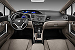 2012 Honda Civic Coupe EX Straight Dashboard View Stock Photo