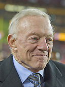 Dallas Cowboys owner Jerry Jones on the sideline prior to the game against the Washington Redskins at FedEx Field in Landover, Maryland on Monday, December 7, 2015.  The Cowboys won 19-16.<br /> Credit: Ron Sachs / CNP