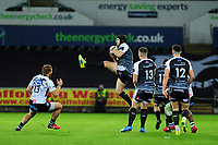 Dan Evans of Ospreys in action during the Guinness Pro14 Round 10 match between the Ospreys and Zebre at the Liberty Stadium in Swansea, Wales, UK.  Friday 30 November 2018