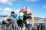 At the start of the 5km Sandstorm challenge last Saturday on Ballyheigue beach were Timmy O'Connor and Paul Battles