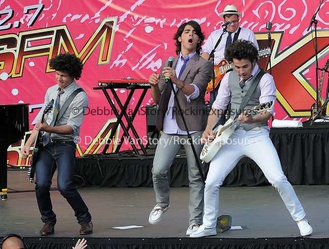 The Jonas Brothers live at The KIIS Fm Wango Tango 2008 held at The Verizon Wireless Ampitheatre in Irvine, California on May 10,2008                                                                                      Copyright 2008 Debbie VanStory / iPhoto