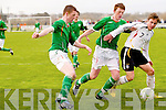 Soccer match between Ireland and Germany under 16 at Pat kennedy Park, Listowel, on Thursday. ..