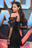 Zoe Saldana at the European premiere for &quot;Guardians of the Galaxy Vol.2&quot; at the Hammersmith Apollo, London, UK. <br /> 24 April  2017<br /> Picture: Steve Vas/Featureflash/SilverHub 0208 004 5359 sales@silverhubmedia.com