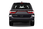 Straight rear view of 2015 Dodge Durango SXT 5 Door Suv Rear View  stock images
