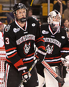 Josh Manson (NU - 3) - The Northeastern University Huskies defeated the Boston University Terriers 3-2 in the opening round of the 2013 Beanpot tournament on Monday, February 4, 2013, at TD Garden in Boston, Massachusetts.