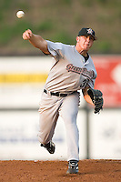Greeneville Astros starting pitcher Corey Bass winds up to deliver the ball to the plate versus the Danville Braves at American Legion Field in Danville, VA, Saturday, July 1, 2006.