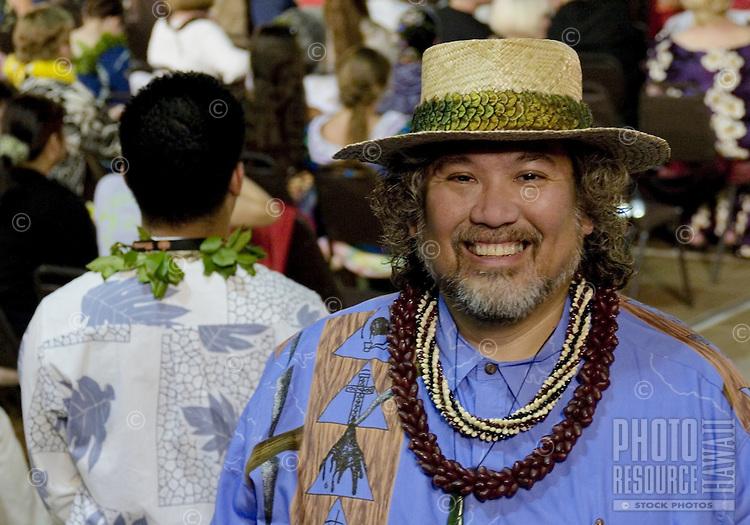 A man enjoys the Merrie Monarch Festival 2008