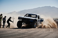 Andy McMillin Trophy Truck arriving at finish of 2012 San Felipe Baja 250, San Felipe, Baja California, Mexico