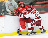 Kirill Gotovets (Cornell - 24), Matt McCollem (Harvard - 23) - The visiting Cornell University Big Red defeated the Harvard University Crimson 2-1 on Saturday, January 29, 2011, at Bright Hockey Center in Cambridge, Massachusetts.