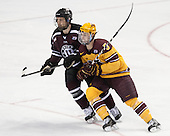 Max Novak (Union - 18), Mike Reilly (MN - 5) - The Union College Dutchmen defeated the University of Minnesota Golden Gophers 7-4 to win the 2014 NCAA D1 men's national championship on Saturday, April 12, 2014, at the Wells Fargo Center in Philadelphia, Pennsylvania.