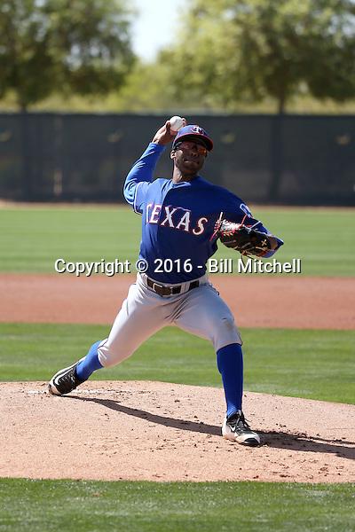 Dillon Tate - Texas Rangers 2016 spring training (Bill Mitchell)