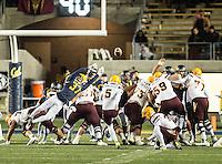 STANFORD, CA - November 28, 2015: The Cal Bears vs Arizona State Sun Devils at California Memorial Stadium in Berkeley, CA. Final score Cal Bears 48, Arizona State Sun Devils 46.