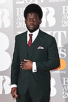 Michael Kiwanuka at the 2017 Brit Awards at the O2 Arena in London, UK. <br /> 22 February  2017<br /> Picture: Steve Vas/Featureflash/SilverHub 0208 004 5359 sales@silverhubmedia.com