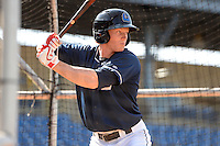 Lake County Captains outfielder Clint Frazier (20) in the batting cage during practice before a game against the Dayton Dragons on June 7, 2014 at Classic Park in Eastlake, Ohio.  Lake County defeated Dayton 4-3.  (Mike Janes/Four Seam Images)