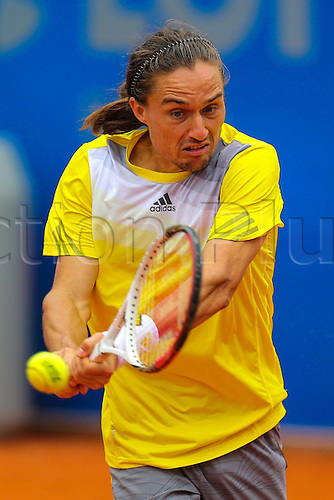 03.05.2013.  Munich, Germany.   Alexandr Dolgopolov UKR in his Quarter-finals Game against Ivan Dodig CRO  BMW Open