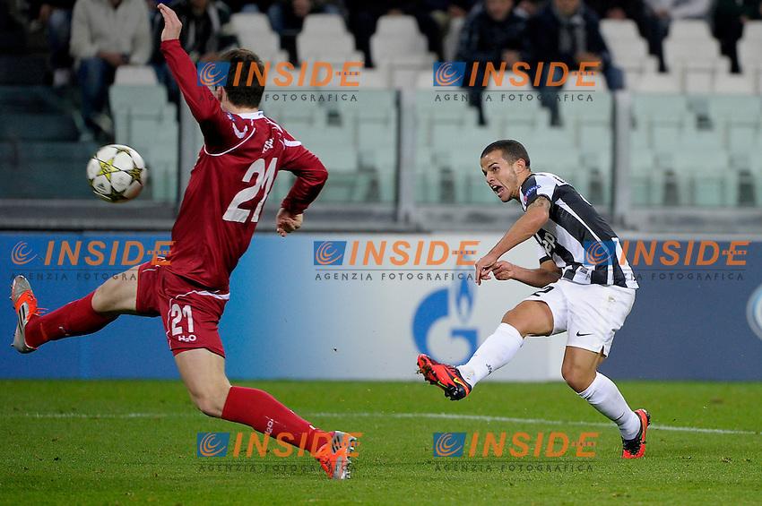 Sebastian Giovinco gol  Juventus.Calcio Juventus Nordsjaelland.Champions League - Torino 07/11/2012 Juventus Stadium .Football Calcio 2012/2013.Foto Federico Tardito Insidefoto