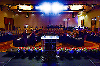 Los Angeles, CA - Thursday January 12, 2017: Ballroom  prior to the 2017 NWSL College Draft at JW Marriott Hotel.