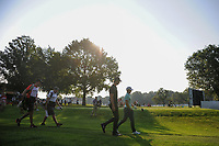Thomas Pieters (BEL), Alex Noren (SWE), Phil Mickelson (USA) on the 10th tee during the first round of the WGC Bridgestone Invitational, Firestone country club, Akron, Ohio, USA. 03/08/2017.<br /> Picture Ken Murray / Golffile.ie<br /> <br /> All photo usage must carry mandatory copyright credit (&copy; Golffile | Ken Murray)