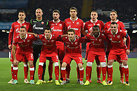 Crvena Zvezda team lines up ahead the Uefa Champions League 2018/2019 Group C football match betweenSSC Napoli and Crvena Zvezda at San Paolo stadium, Napoli, November, 28, 2018 <br /> Foto Andrea Staccioli / Insidefoto