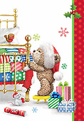 Sharon, CHRISTMAS ANIMALS, WEIHNACHTEN TIERE, NAVIDAD ANIMALES, GBSS, paintings+++++,GBSSC50XCB2,#XA#