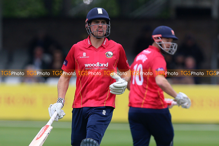 Alastair Cook (L) and Nick Browne in batting action for Essex during Essex Eagles vs Gloucestershire, Royal London One-Day Cup Cricket at The Cloudfm County Ground on 4th May 2017