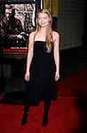 "HOLLYWOOD, CA. - November 09: Actress Mia Wasikowska arrives at the 2008 AFI Film Festival Presents ""Defiance"" at The ArcLight Cinemas on November 9, 2008 in Hollywood, California."
