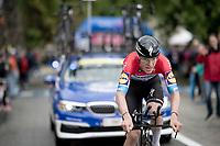 Bob Jungels (LUX/Deceuninck - Quick Step)<br /> <br /> Stage 9 (ITT): Riccione to San Marino (34.7km)<br /> 102nd Giro d'Italia 2019<br /> <br /> ©kramon