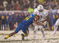 Philadelphia, PA - December 9, 2017:    Army Black Knights quarterback Ahmad Bradshaw (17) gets tackled during the 118th game between Army vs Navy at Lincoln Financial Field in Philadelphia, PA. (Photo by Elliott Brown/Media Images International)