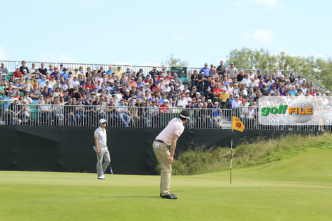Keegan Bradley (USA) takes his putt on the 10th green during Saturday's Round 3 of the 141st Open Championship at Royal Lytham & St.Annes, England 21st July 2012 (Photo Eoin Clarke/www.golffile.ie)