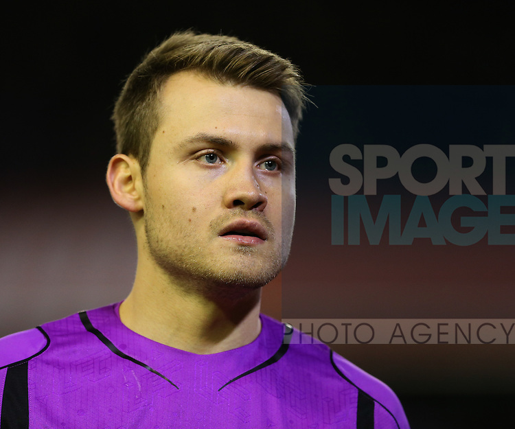 Simon Mignolet of Liverpool - Barclays Premier League - Liverpool vs Swansea City - Anfield Stadium - Liverpool - England - 29th December 2014  - Picture Simon Bellis/Sportimage