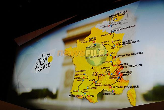 Tour de France 2017 - 18/10/2016 - Palais des congres - Paris - France - Presentation du parcours - La carte