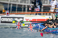 GBR Flags<br /> Yeosu South Korea 14/07/2019<br /> Open Water Women's 10KM<br /> 18th FINA World Aquatics Championships<br /> Expo Ocean Park <br /> Photo © Andrea Masini / Deepbluemedia / Insidefoto