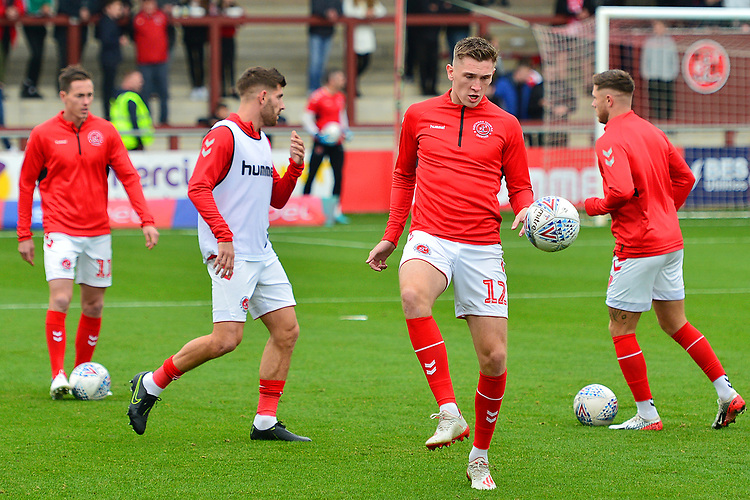 Fleetwood Town's Jimmy Dunn warms up prior to the match<br /> <br /> Photographer Richard Martin-Roberts/CameraSport<br /> <br /> The EFL Sky Bet League One - Fleetwood Town v Ipswich Town - Saturday 5th October 2019 - Highbury Stadium - Fleetwood<br /> <br /> World Copyright © 2019 CameraSport. All rights reserved. 43 Linden Ave. Countesthorpe. Leicester. England. LE8 5PG - Tel: +44 (0) 116 277 4147 - admin@camerasport.com - www.camerasport.com