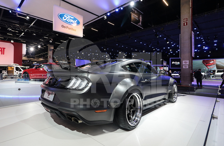 S&Atilde;O PAULO, 08.11.2018  - SALAO DO AUTOMOVEL  - Ford Shelby Mustang exibidos na 30&ordf; edi&ccedil;&atilde;o do Sal&atilde;o do Autom&oacute;vel nesta quarta-feira (08) no S&atilde;o Paulo Expo, zona sul da capital paulista.<br /> <br /> (Foto: Fabricio Bomjardim / Brazil Photo Press)