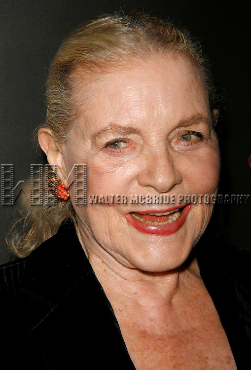 "Lauren Bacall.attending ""First Readings: A Benefit for Studio Dante"".with a Tribute to the Legendary Lauren Bacall at the Rubin Museum of Art in New York City..March 31, 2008.© Walter McBride /"