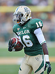 Baylor Bears wide receiver Tevin Reese (16)) in action during the game between the Kansas Jayhawks and the Baylor Bears at the Floyd Casey Stadium in Waco, Texas. Baylor leads Kansas 20 to 14 at halftime....
