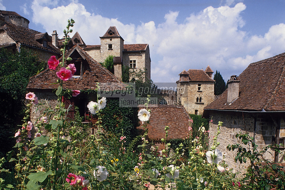 Europe/France/Midi-Pyrénées/46/Lot/Vallée du Lot/Saint-Cirq-Lapopie : Le village