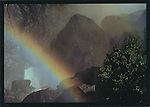 FB 12,  Bridal Veil fall rainbow, Yosemite National Park, 5x7 postcard