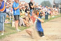 FIERLJEPPEN/POLSSTOKVERSPRINGEN: 26-08-2017, NK Fierljeppen Jaarsveld, Jaco de Groot, ©foto Martin de Jong