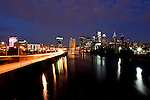 The Philadelphia sky line is seen from the South Street Bridge in Philadelphia, Pennsylvania on Wednesday, August 24th 2011. (Photo By Brian Garfinkel)