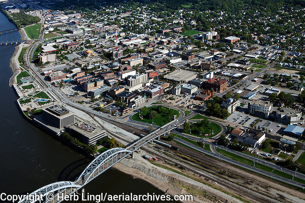 aerial photograph of Rock Island, Illinois