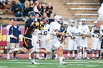 San Diego, CA 05/25/13 - Bennett Shafer (Torrey Pines #8) and Blake Pinyan (La Costa Canyon #27) in action during the 2013 CIF San Diego Section Open DIvision Boys Lacrosse Championship game.  Torrey Pines defeated La Costa Canyon 7-5.