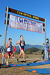 October 29, 2011; Belmont, CA, USA; Loyola Marymount Lions runner Kevin Joerger (70) and Gonzaga Bulldogs runner Willie Milam (48) competes during the WCC Cross Country Championships at Crystal Springs.