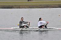 088 BradfordonAvon W.J17A.2x..Marlow Regatta Committee Thames Valley Trial Head. 1900m at Dorney Lake/Eton College Rowing Centre, Dorney, Buckinghamshire. Sunday 29 January 2012. Run over three divisions.