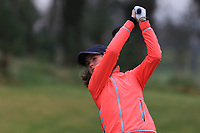 Magdalena Maier (GER) on the 1st tee during Round 1 of the Irish Girls U18 Open Stroke Play Championship at Roganstown Golf &amp; Country Club, Dublin, Ireland. 05/04/19 <br /> Picture:  Thos Caffrey / www.golffile.ie