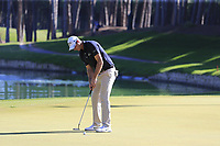 Nicolas Colsaerts (BEL) putts on the 10th green during Thursday's Round 1 of the 2018 Turkish Airlines Open hosted by Regnum Carya Golf &amp; Spa Resort, Antalya, Turkey. 1st November 2018.<br /> Picture: Eoin Clarke | Golffile<br /> <br /> <br /> All photos usage must carry mandatory copyright credit (&copy; Golffile | Eoin Clarke)